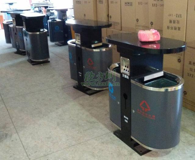 江苏南京景区户外钢制烤漆垃圾桶
