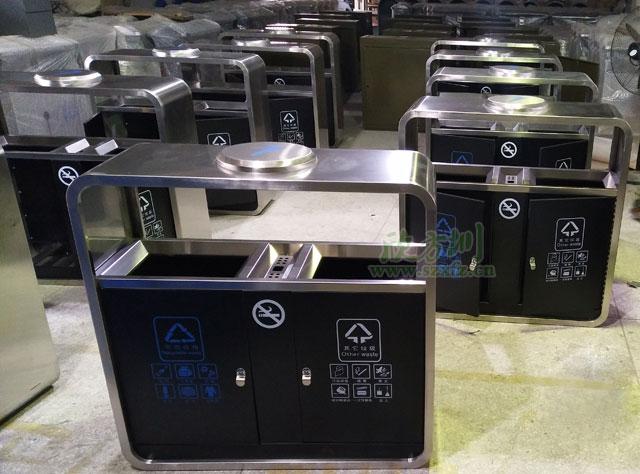 不锈钢烤漆户外垃圾桶广州高等院校就用它