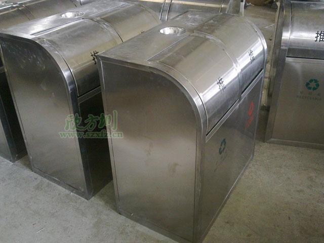 不锈钢环保分类垃圾tong工厂成品图