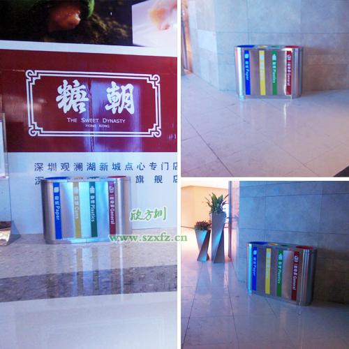 香港机场分类不锈钢垃圾桶热销大陆