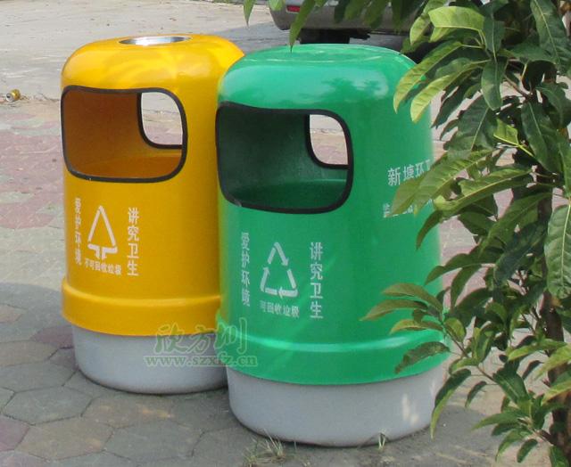 广州新塘镇政府采购欣方圳玻璃钢圆形垃圾桶