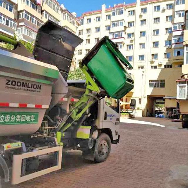 ha尔滨配置8万四分类垃圾桶专车分类shou运