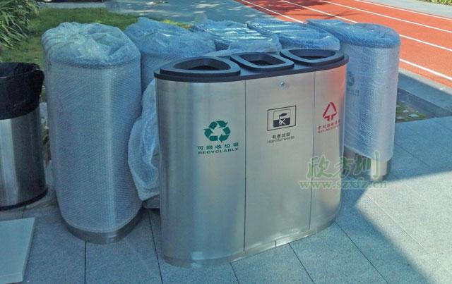 jp11商场三分类垃圾桶图片