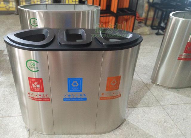 不锈钢垃圾桶厂家专利产品服务广西南宁商场