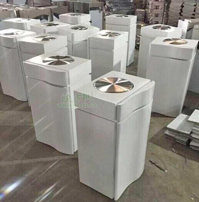 冰箱造型不锈钢烤漆果皮箱厂家服务佛山南海万达商场