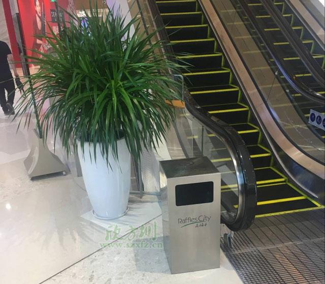深圳来福士广场不锈钢果皮箱找专业厂家采购