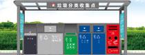 金属垃圾分类亭垃圾分类收集站lai图laiyang定制