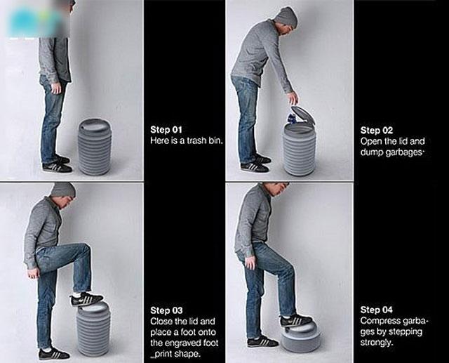 垃圾桶小发明只为改善生活更美好