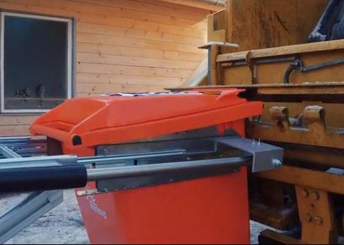 用无人机控制 自动清理垃圾桶的机器人