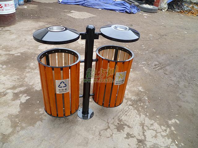 欣方圳钢木垃圾桶 广受天津海滨区客户欢迎